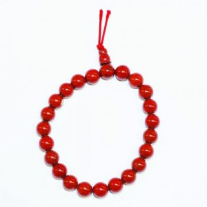 Bracelet Mala Traditionnel en Jaspe Rouge