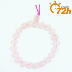 Bracelet Mala Traditionnel en Quartz Rose