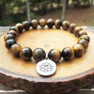 bracelet-bouddhiste-oeil-de-tigre-lotus-pierre-naturelle