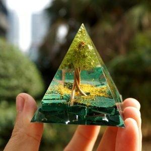 TRANSFORMATION POSITIVE - Pyramide de malachite de l'arbre de vie